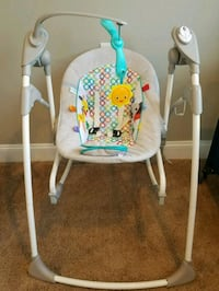 baby's white and blue swing chair Baltimore, 21212