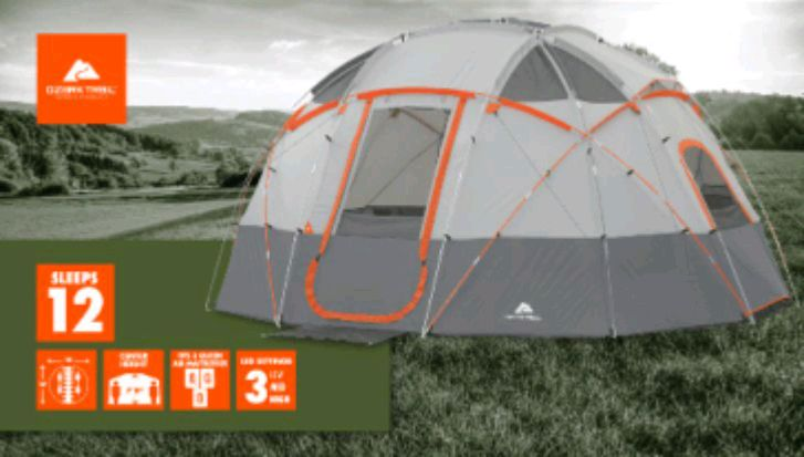 Ozark Trail 12-Person Base C& Tent with Light... usado en venta en Houston - letgo & Ozark Trail 12-Person Base Camp Tent with Light... usado en venta en ...