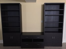 Custom Made Bookcase & Media Unit  (See under MORE INFO)