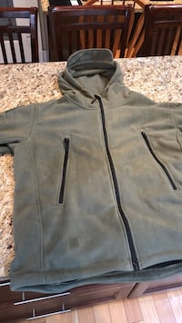 Olive green full-zip jacket