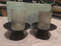 Partylite bamboo candle holders