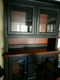 black wooden framed glass cabinet Los Angeles, 90004
