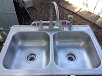 Double Stainless Steel Sink w/ Nice Faucet