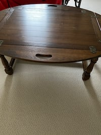 Coffee table folding sides