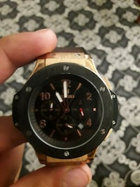 Megir watch review- Chronograh Hublot Big bang hom