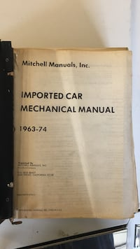 Imported car mechanical manual 1963-1974