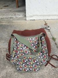 grey and yellow Mickey Mouse duffle bag Cocoa, 32926