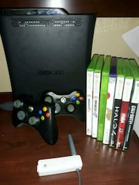 Xbox 360 console with controller and game cases Lisle, 60532
