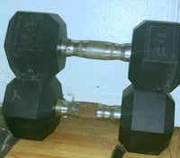 Two (2) 30lb CAP Barbell Coated Hex Dumbbell Weights   New York, 10023