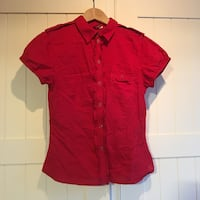 Red button shirt, size 6 small Toronto, M9A 4R9