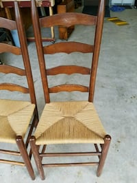 Ladder back chairs  $30.00 for the pair. Wilmington, 28411