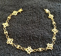 "14k diamonds weave bracelet.7""inches Real gold"