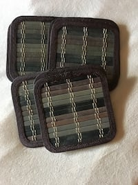 Set of nine bamboo coasters. Bensalem, 19020
