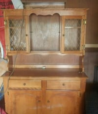 brown wooden cabinet with hutch Welland, L3B 5G3