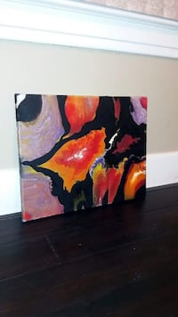 Black, orange and red abstract painting on canvas 16x20 handmade  Granite City, 62040