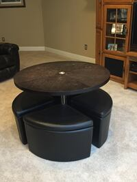 black and gray wooden coffee table Ellisville, 63021