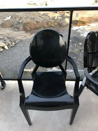 Black chair 4 designer ghost chairs  Laval, H7T 0K7