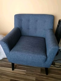 New blue mid century accent chair  Toronto