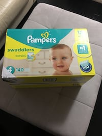 Pampers swaddlers size 4 large box