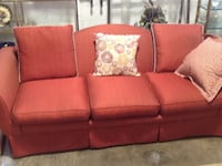 red fabric 3-seat sofa Rockville, 20850