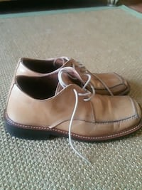 pair of brown leather dress shoes 757 mi