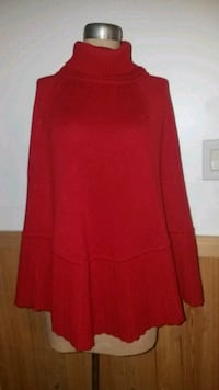 Red knit Poncho Surfside Beach, 29575
