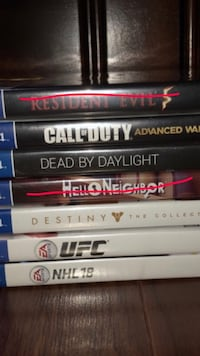 5 Ps4 games for sale Surrey, V3V 6Y2