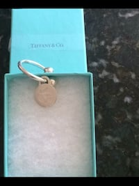 TIFFANY & CO Sterling Silver HEAVY Key Ring 925 Derwood, 20855