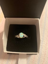 925 Opal ring with Diamond accents