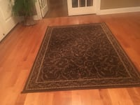 brown and black floral area rug Manalapan, 07726