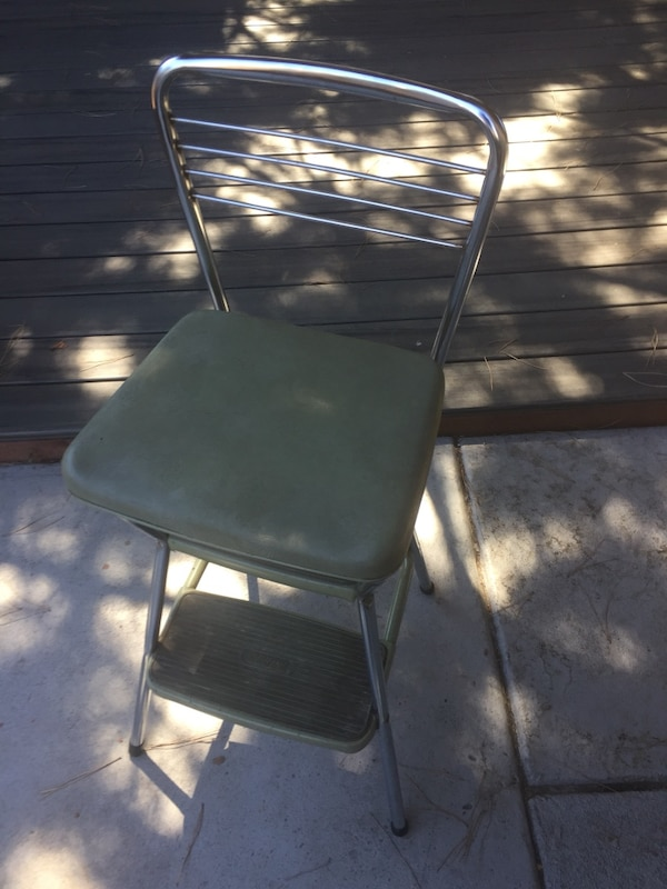 Cosco kitchen step stool chair vintage green