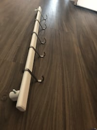 "Ikea 24"" hanging rod  with (5) S hooks Arlington, 22201"