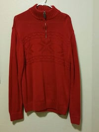 1/4 zip Mens Large red sweater