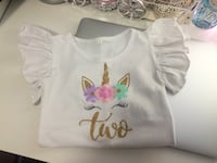Unicorn two birthday onesie