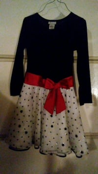 Teenagers black and red long sleeve dress DeSoto, 75115