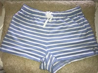 Polo White and blue striped lounge shorts  Sevierville, 37862
