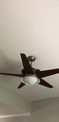Brown 5-blade ceiling fan with light Freeport, 11520