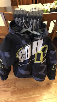 Icon merc camo motorcycle jacket and gloves Hopatcong, 07843
