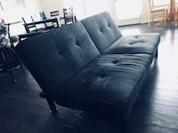Black leather 3-seat sofa Ashburn, 20148