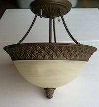 White-and-chestnut dome lamp Glendale, 91203