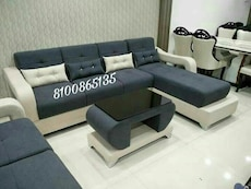 black and white fabric sectional sof a