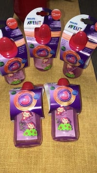 purple and pink plastic toy