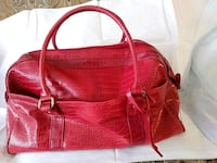 women's red leather tote bag Raleigh, 27616