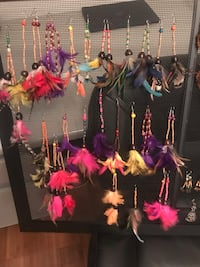 brasilian indian handmade feather earrings $3 each