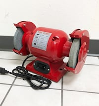 "New $42 Bench 6"" Grinder 3450 RPM with Tool Rests Eye Shields Sharpener Polisher South El Monte"
