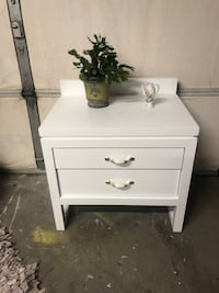 """White wooden 2-drawer nightstand24""""x22"""" 18"""" back Lincoln, 68503"""