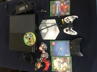 Xbox One with all cords plus comes with two controllers and popular games with pieces!! Was bought for my little brother but he's never really used it. Just sits all day so its in perfect condition! Absolutely would make a great gift for younger kids!OBO Los Angeles, 90044