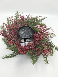 Table Candle Christmas Holiday Wreath 217 mi