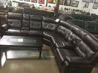 Bonded leather Reclining sectional  Dallas, 75287