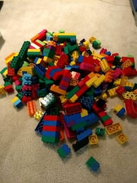 Assorted Mega Bloks plastic building bricks lego